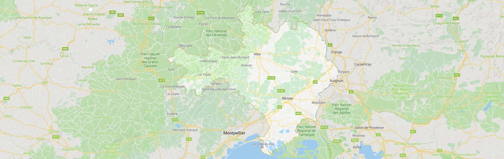 Zone d'internetion ZOne d'intervention Gard